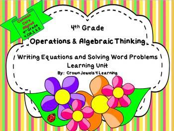 Operations & Algebraic Thinking Common Core 4th Grade  4.OA.1 & 2
