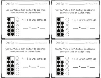 Operations & Algebraic Thinking Exit Slips for 2nd Grade