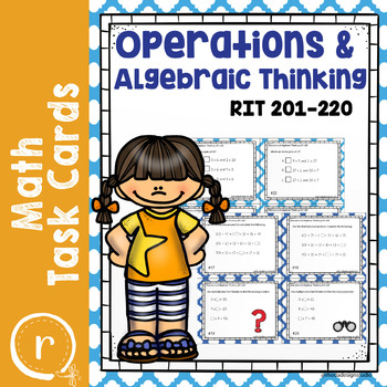 Operations & Algebraic Thinking Math Test Prep Task Cards