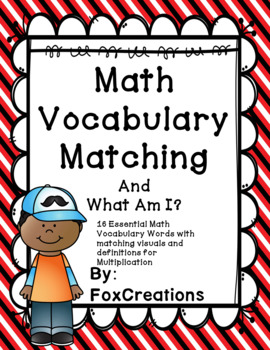 Operations & Algebraic Thinking Math Vocabulary ~ Multipli