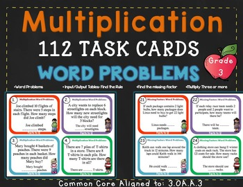 Scavenger Hunt List >> Multiplication within 100 - 3rd Grade 3.OA.A.3 by Rock ...
