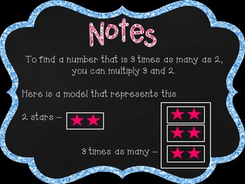 Operations & Algebraic Thinking: Multiplicative Comparisons PPT and Note Taker