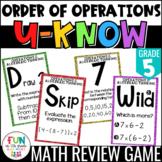 Order of Operations Game {5th Grade 5.OA.1, 5.OA.2, 5.OA.3}