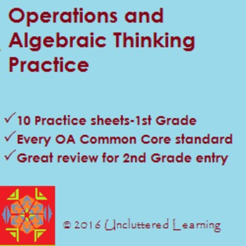 Operations & Algebraic Thinking - 10 Practice Sheets for 1