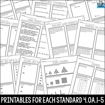 Operations & Algebraic Thinking Practice: Word Problems, Factors, Patterns
