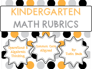 Operations & Algebraic Thinking Kindergarten Rubrics