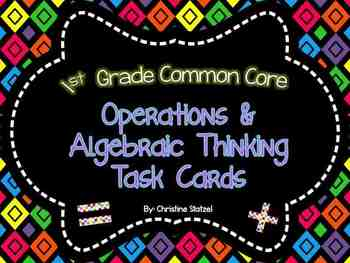 Operations & Algebraic Thinking Task Cards {1st Grade CCSS}