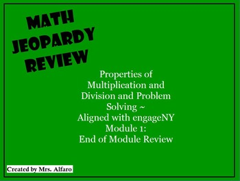 Operations & Algebraic Thinking Third Grade CCSS Math Review ~ Promethean Game