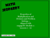 Third Grade Math Jeopardy Game ~ Engage New York Module 1 Review