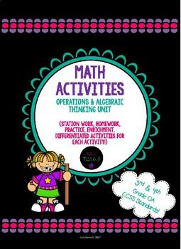 Operations & Algebraic Thinking Unit Activities