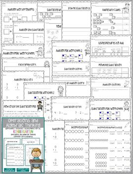 Operations & Algebraic Thinking Worksheets/Activities - Kindergarten Common Core