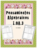 Operations & Algebraic Thinking in spanish 1.OA.3