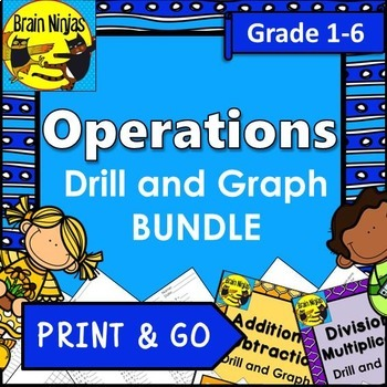 Operations Drill and Graph Practice Bundle