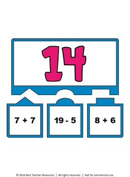 Operations Equivalency Puzzles - Addition & Subtraction