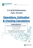 Operations, Estimations and Checking Calculations