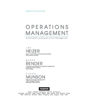 Operations Management Sustainability and Supply Chain Management (12th Edition)
