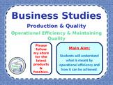 Operations - Operational Efficiency - Business Studies - PPT & Worksheet