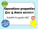Operations Properties Cut&Paste hands-on activity
