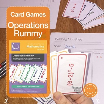 Operations Rummy | advanced card game to practice the order of operations