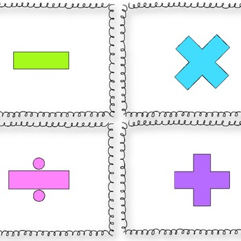 Operations Sort Cards FREEBIE Grades 3-5