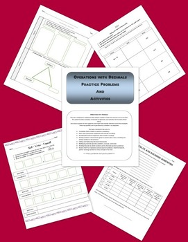 Operations With Decimals - Activities and Problems to Supplement Module Two
