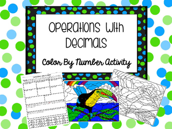 Operations With Decimals Color By Number