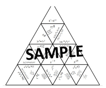 Operations With Exponents Tarsia Puzzle