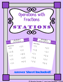 Operations With Fractions Stations