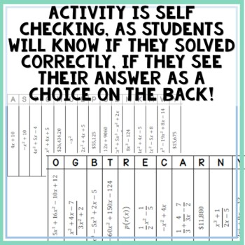 Operations With Functions Joke Activity