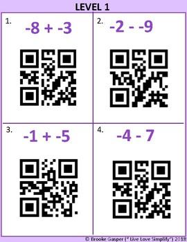 Integer Operations QR Codes