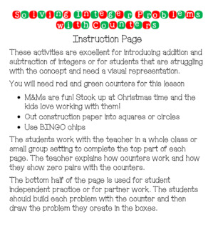 Operations With Integers Unit- Interactive Notebook, Practice, Assessment