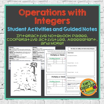 Operations With Integers Unit- Interactive Notebook, Pract
