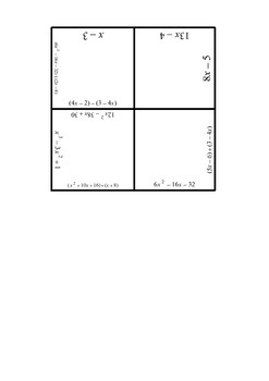 Operations With Polynomials Puzzle