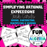 Operations With Rational Expressions Task Cards