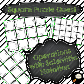 Operations With Scientific Notation - Square Puzzle Quest