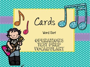 Operations Word Sort...Great for Test Prep!