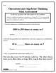 Operations and Algebraic Thinking Assessments Grade 4 (4.OA.1-3)