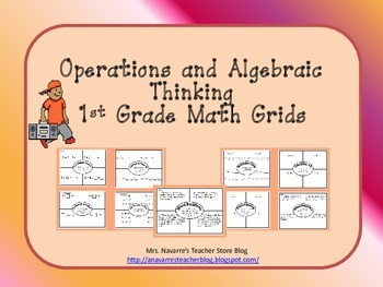 Operations and Algebraic Thinking 1st Grade Math Grids