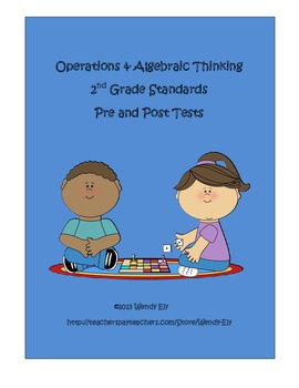 Operations and Algebraic Thinking--2nd grade pre and post tests