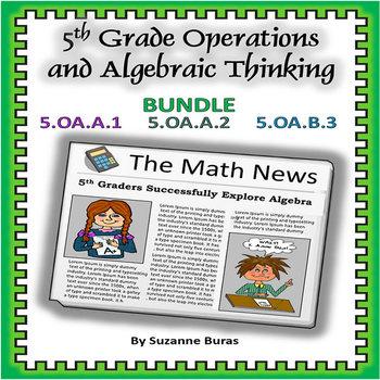 Operations and Algebraic Thinking:  5.OA.1-3 BUNDLE