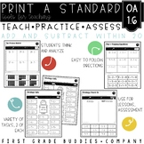 Print a Standard OA 1.6 {Add & Subtract Within 20} Activities + Assessments