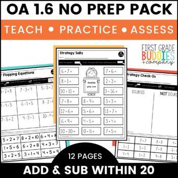Addition and Subtraction | OA 1.6 | No Prep Tasks | Assessment | Worksheets