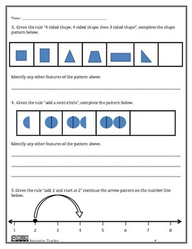 Operations and Algebraic Thinking Assessment Grade 4 (OA.5)