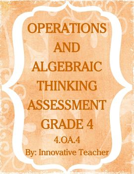 Operations and Algebraic Thinking Assessment Bundle Grade 4 (4.OA.1-5)