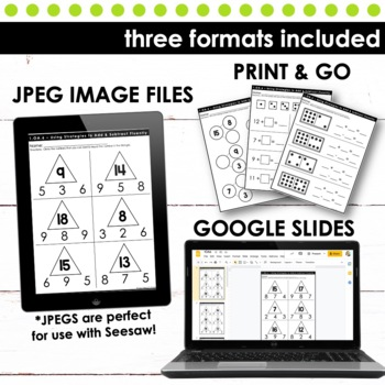 Operations and Algebraic Thinking BUNDLE - First Grade Print and Go