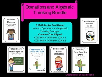 Operations and Algebraic Thinking Bundle: Addition and Subtraction within 20
