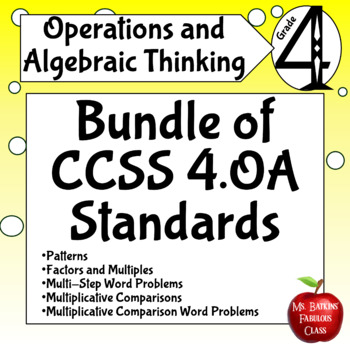 Operations and Algebraic Thinking Bundle Fourth Grade Math Centers