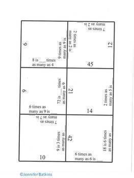 Operations and Algebraic Thinking Bundle Fourth Grade Math Centers 4.OA