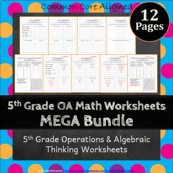 Operations And Algebraic Thinking Worksheets Teaching Resources ...