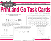 Operations and Algebraic Thinking Task Cards Bundle: RIT Bands 191 - 240